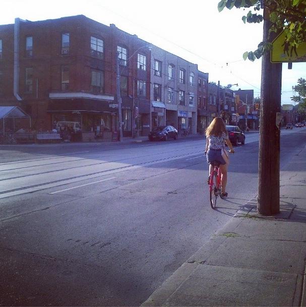 the kollektive girl on a bike
