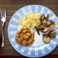 Chicken, Potatoes and Vegetable Medely