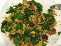 Homemade bowl: sautéed mushrooms & avocado