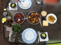 BBQ dinner in the Summer