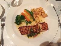 Salmon Dinner at Jacques Bistro Du Parc
