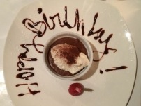 Birthday Cake at Jacques Bistro Du Parc