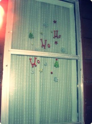 Ho, Ho, Ho on the back window