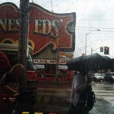 Rainy days in coffee shops