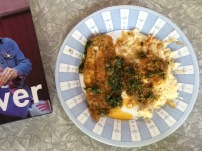 Pan-baked Tilapia with a Chardonnay & tomato sauce, with Spinach