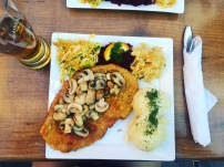 Schnitzel at Bar 4 U