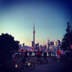 View of Toronto Skyline from Toronto Island