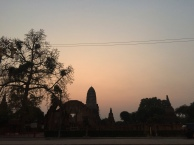 Watching the sunset over Wat Ratburana